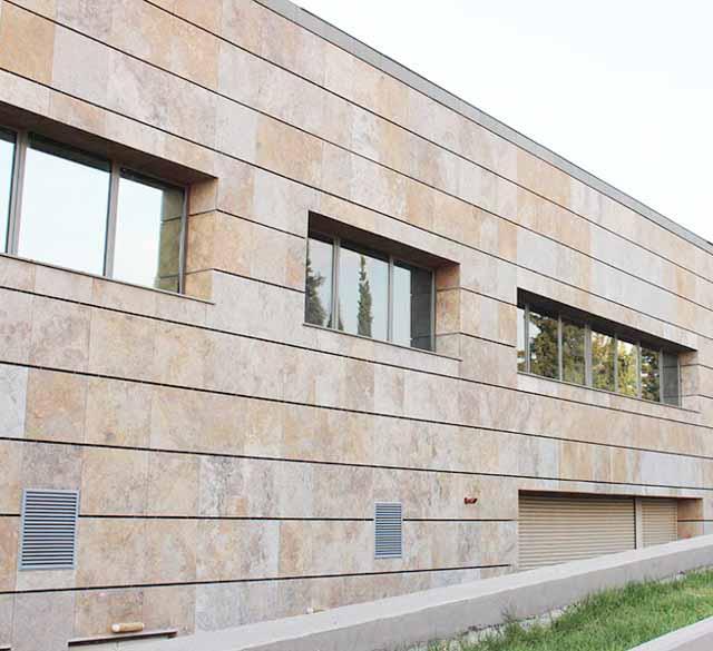 фото домов с отделкой вентилируемого фасада камнем науки состоит